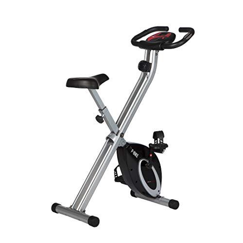 Ultrasport F-Bike, Fahrradtrainer, Heimtrainer, faltbares Fitnessfahrrad mit Trainingscomputer und Handpulssensoren, kla...