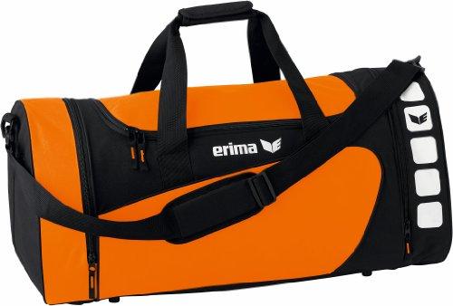 Erima Club 5 Sporttasche, Orange/schwarz, M