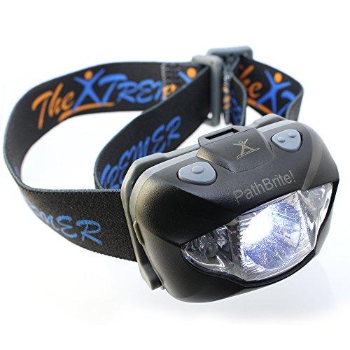 PathBrite™ LED Stirnlampe – Geeignet fürs Campen, Heimwerken, Laufen und für die Jagd. IR-Kontrollsensor durch Han...