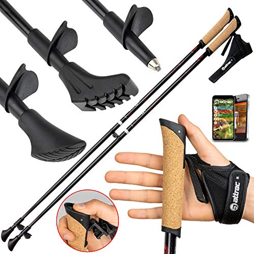 Carbon Ultra Light Walking Stock mit Handgelenkschlaufe verschiedene Längen Superleicht Premium GRATIS - Nordic Walking...