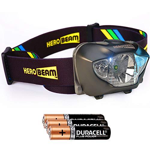 HeroBeam® LED Stirnlampe - Beste Taschenformat Kopflampe zum Joggen, Wandern, Radfahren, Lesen, Handwerk oder Naturaben...