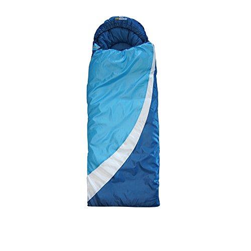 outdoorer DreamSurfer, mitwachsender Schlafsack für Kinder und Jugendliche in blau oder pink - der Jugendschlafsack (bl...