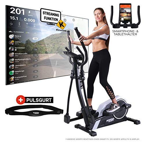 Miweba Sports Crosstrainer MC300 Stepper Ellipsentrainer Heimtrainer - App Steuerung - 21 Kg Schwungmasse - Pulsgurt - M...
