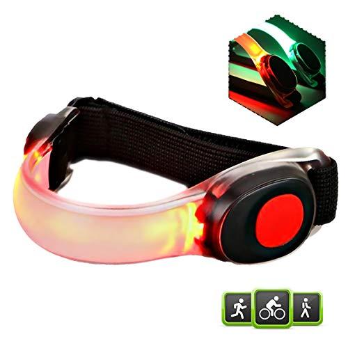 Echelon Line LED Armband Leuchtband Laufband - Reflektorband Sicherheitslicht für alle Outdoor Sportarten - Blinklicht ...