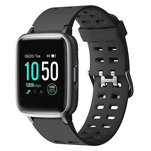 YAMAY Smartwatch,Fitness Armband Uhr Voller Touch Screen Fitness Uhr IP68 Wasserdicht Fitness Tracker Sportuhr mit Schri...