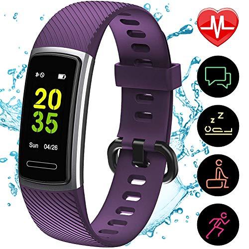 [Aktualisierte 2020 Version] Fitness Armband mit Pulsmesser,IP68 Wasserdicht Smartwatch Aktivitätstracker Sportuhr,Fitn...