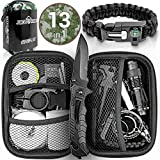 Jungle Monkey Survival Kit Premium Set mit Messer & Tasche...