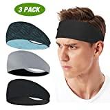 LATTCURE Sport Stirnband, Stirnband 3 Pack, Schweißband, ...