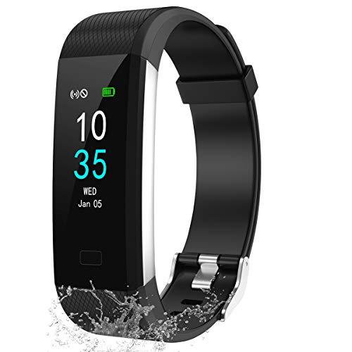 LEBEXY Fitness Armband Schrittzähler, Fitness Tracker mit Herzfrequenzmesser Blutdruckmessung Pulsuhr Kalorienzähler, ...