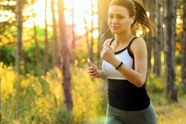 Musik hören beim Jogging