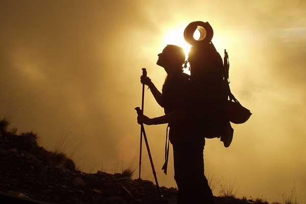 Trekking im Gebirge