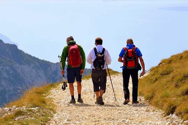 Wanderroute in den Bergen
